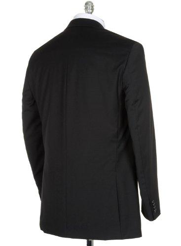 MICHAEL Michael KorsMichael Kors MK Black Wool 2-Button Suit 42 Short 42S Flat Front Pant 35 Waist