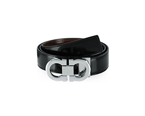 SALVATORE FERRAGAMO Cintura Uomo Pelle nero - marrone 0380287