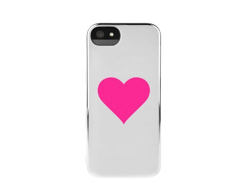 INCASE(インケース)SNAP CASE for iPhone5 SILVER CHROME/SINGLE PINK HEART 6915 (iPhone5用, SILVER CHROME/SINGLE PINK HEART)