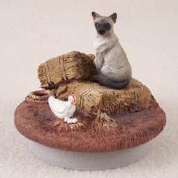 Siamese Cat Candle Topper Tiny One A Day on the Farm (Set of 6) a street cat named bob how one man and his cat found hope on the streets