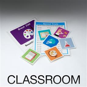 Laminate classroom documents
