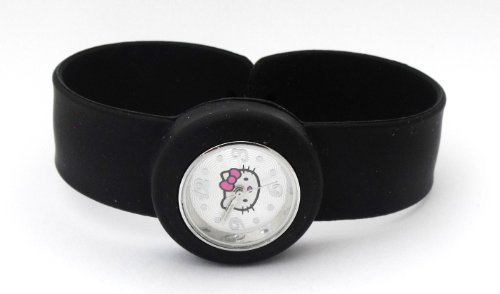 Girls/Kids Black Hello Kitty Silicone Snap/Slap