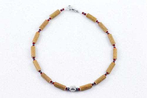 Healing Hazel Hazelwood Baby Necklace Boy Pendant, Metallic Pendant/Hematite/Red