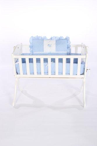 Imagen de Baby Doll Bedding guinga con Elefante Del lecho Applique Cuna, Azul