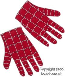 Child's Spider-man Costume Gloves