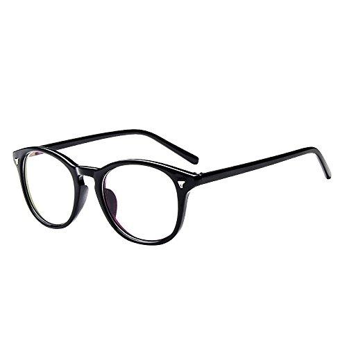 Forepin® Unisex Lenti Occhiali Trasparenti Montatura Cornice Taglia Unica Retro Piane Plain Frame