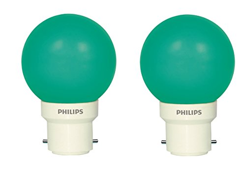 0.5 W Decomini B22 LED Bulb (Green, Pack of 2)