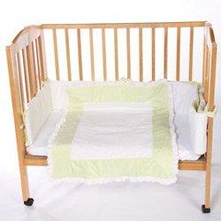 Snuggle Diamond Porta Crib Bedding - Color: Green front-1013101