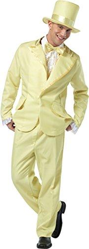 Rasta Imposta 70S Inspired Funky Tuxedo Pastel Costume, Yellow (Funky Tuxedo Adult Men Costume)
