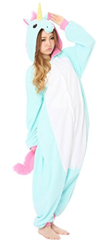 Gillbro Anime adulti Cosplay Animal Costume Pigiama, Blu Unicorn, M