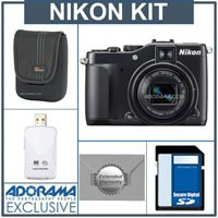 Nikon CoolPix P7000 Digital Camera Kit, - with 8GB SD Memory Card, Camera Case, 2 Year Extended Service Coverage, USB 2.0 SD Card Reader
