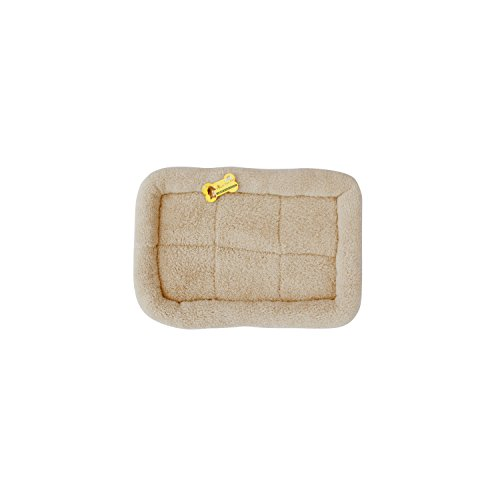 ALEKO® PCM01 Small Soft Plush Beige Comfy Pet Bed Cushion Mat for Dogs and Cats