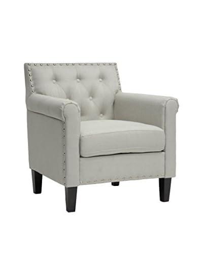 Baxton Studio Thalassa Arm Chair, Beige