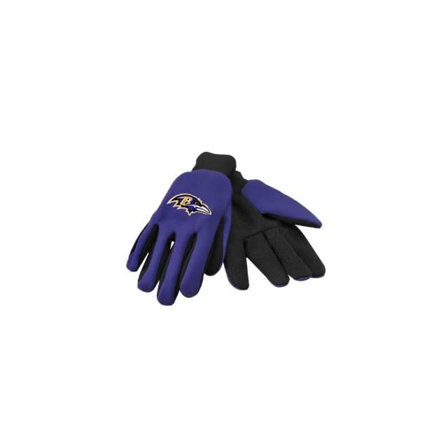 Baltimore Ravens NFL All Purpose Utility Grip Gloves Sports & Outdoors