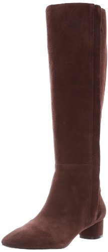 Nine West Women'S Nicoh Boot,Dark Brown Suede,10 M Us