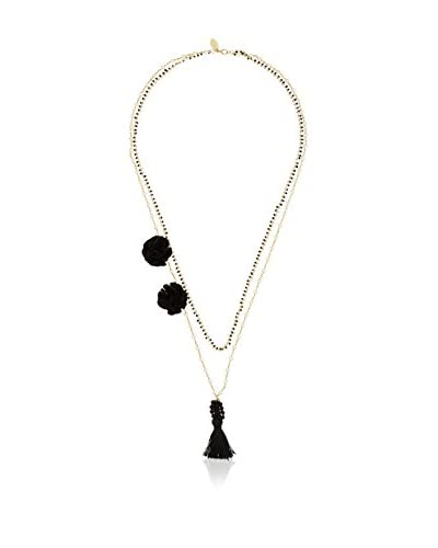 Twin Set Collar  Negro / Dorado