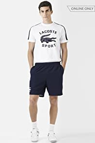 Taffeta Tennis Short with Croc Logo Graphic