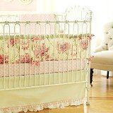 New Arrivals 4 Piece Crib Set, Roses for Bella