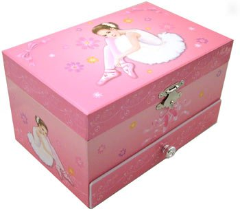 Musical Ballerina Jewellery Box with Drawer