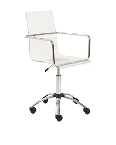 Euro Style Chloe Office Chair, Clear