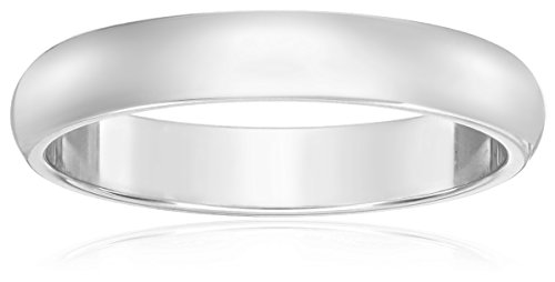 Classic Fit 10K White Gold Band, 3mm, Size 7.5