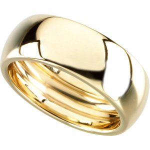 Genuine IceCarats Designer Jewelry Gift 14K Yellow Gold Wedding Band Ring Ring. Size 09.00/ 06.00Mm Scooped Inside Round Band Scooped Inside Round Band In 14K Yellowgold Size 9