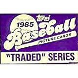 31ohRA 7mfL. SL160  1985 Topps Traded Baseball Series Complete Mint 132 Card in the Original Factory Set Box. Featuring the Rookie Card of Ozzie Guillen Plus Rickey Henderson, Billy Martin, Dusty Baker, Fred Lynn and Others.
