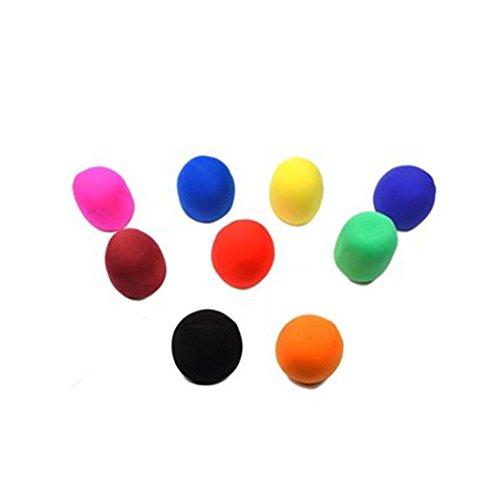 Newstylee 9 Pack Of Black/Blue/Brown/Green/Hotpink/Orange/Purple/Yellow/Red Handheld Stage Microphone Windscreen Foam Cover