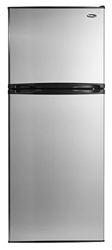 Danby Designer 11 Cubic Feet Refrigerator Size-Stainless Steel and Black
