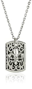 "LH MEN ""Tribal"" Men's Tribal Fleur De Lis Pendant Necklace"