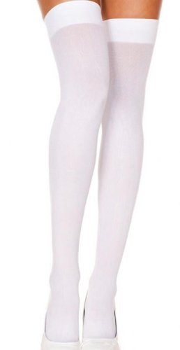 WHITE Girls Thigh-High/Knee