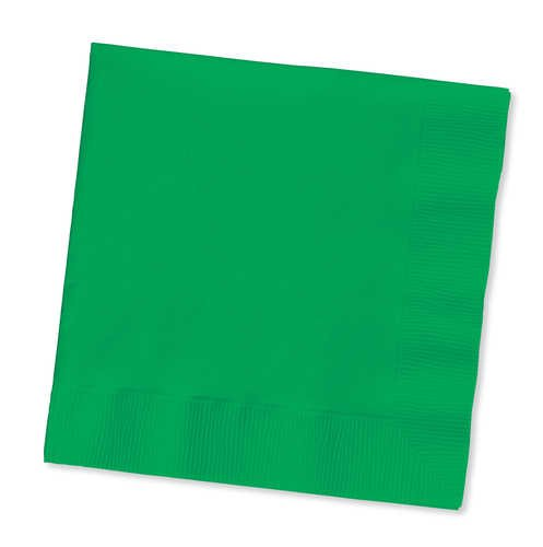 Solid Green Lunch Napkin - 1