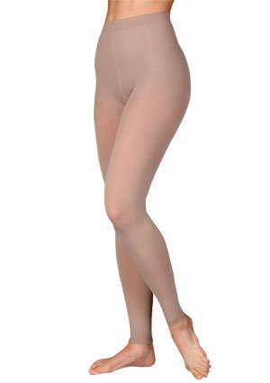Footless compression pantyhose