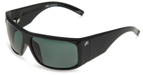 Electric Visual Jailbreak Sunglasses,Gloss Black Frame/Grey Poly Polarized Lens,One Size