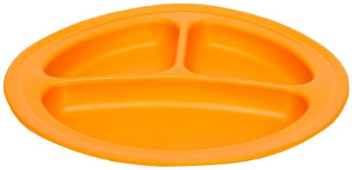 Baby / Child Colorful Green Eats 2 Pack 100% Food-Safe Recycled Plastic Milk Containers Divided Plates - Orange Infant