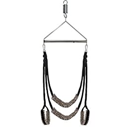 Sexy Restraint Swing, Acome Luxury Heavy Duty Indoor Swing with Steel Triangle Frame and Spring for Fetish Sex Bondage Unisex Durable Nylon Holds for Couple
