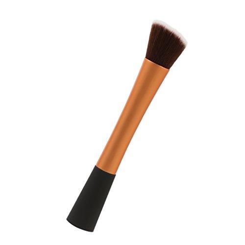 Pinceau de Maquillage Incliné Outil Cosmétique pour Fond de Teint Poudre Fard à Joues - Or