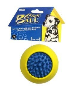 JW Pet Company Tough by Nature Grass Ball Small Rubber Dog Toy