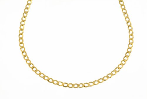 Necklace, 9ct Yellow Gold Curb Chain, 46cm Length,