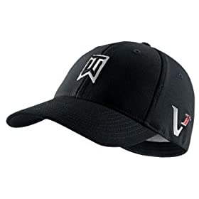 Nike TW Tiger Woods Tour FlexFit Golf Cap Hat 2010 Victory Red One L XL  Black  Sports   Outdoors d53ab531f27