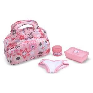 Toy / Game M & D Doll Diaper Changing Set - Cushy, padded handles and easy-open compartments
