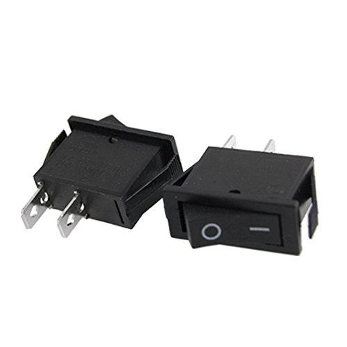2Pcs On-Off 2 Position Spst Snap In Rocker Switch 15A/250V 20A/125V Ac front-493102