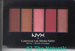 NYX Cosmetics Luscious Lip Gloss Palette LGP01 Red Rediscovered