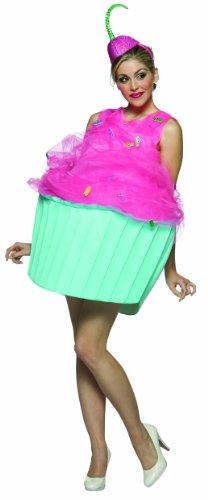 Rasta Imposta Cupcake Costume, Pink/Blue, Adult size 4-10