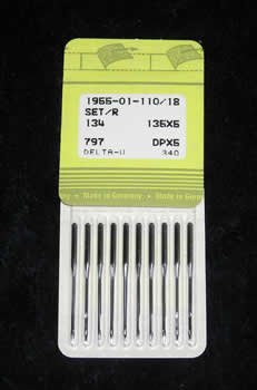 Best Buy! Singer (SNF) Needles 1955-01-110/18 (135x5) - Quantity 100