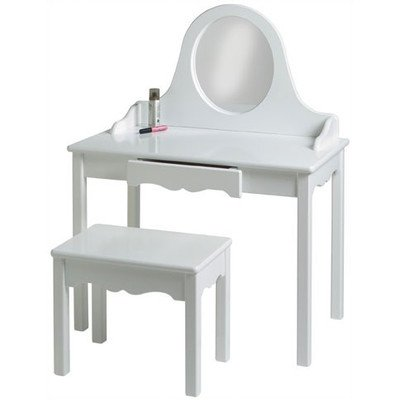 Little Colorado Vanity And Bench Set, Solid White