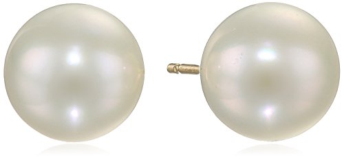 14K Yellow Gold Freshwater Cultured Pearl Stud Earrings (8-8.5Mm) front-575480
