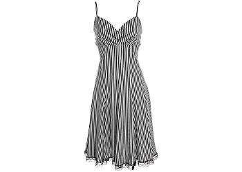 Buy Misses Vasna Black & White Stripe Knit Dress