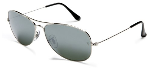 Rayban Aviator with Grey Lense & Silver Frame Aviator Unisex Adult Sunglasses T.59 Grey/Silver One Size