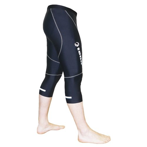 Tenn Mens 3/4 Length Cycling Leggings/Tights with Moulded Pad - Black